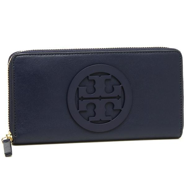 トリーバーチ TORY BURCH CHARLIE ZIP CONTINENTAL WALLET 長財布 NAVY 紺 1