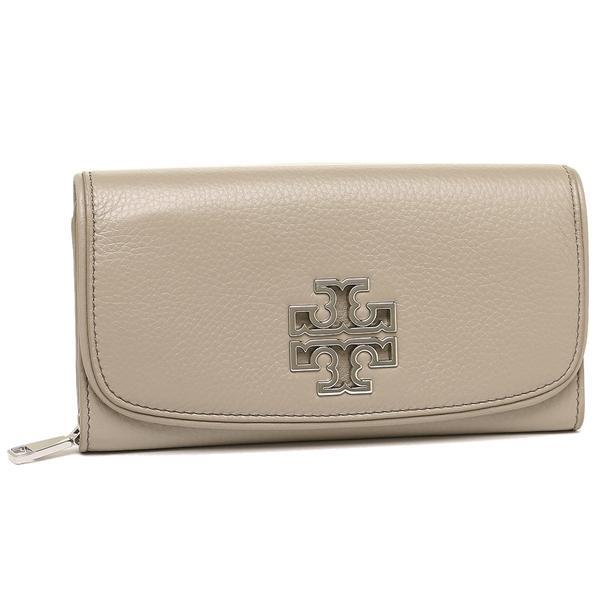 トリーバーチ TORY BURCH BRITTEN DUO ENVELOPE CONTINENTAL WALLET 長財布 グレー 1