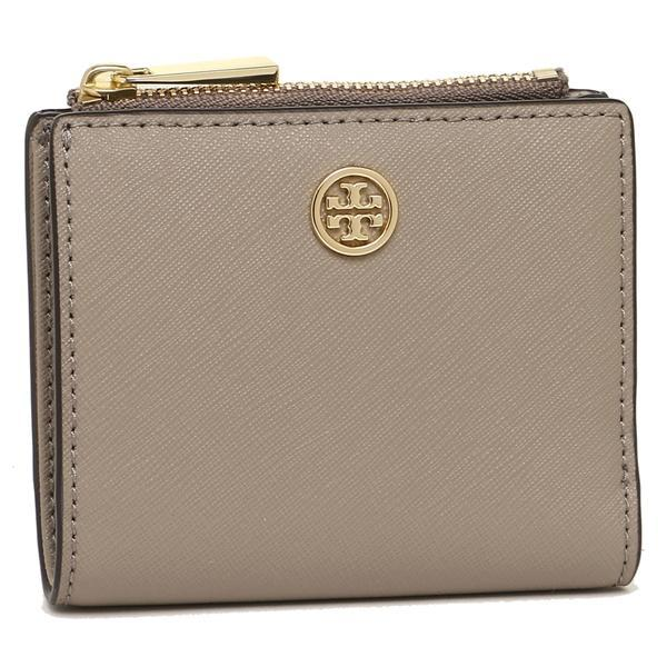 トリーバーチ TORY BURCH MINI WALLET ROBINSON 二つ折りFRENCH GRAY  1