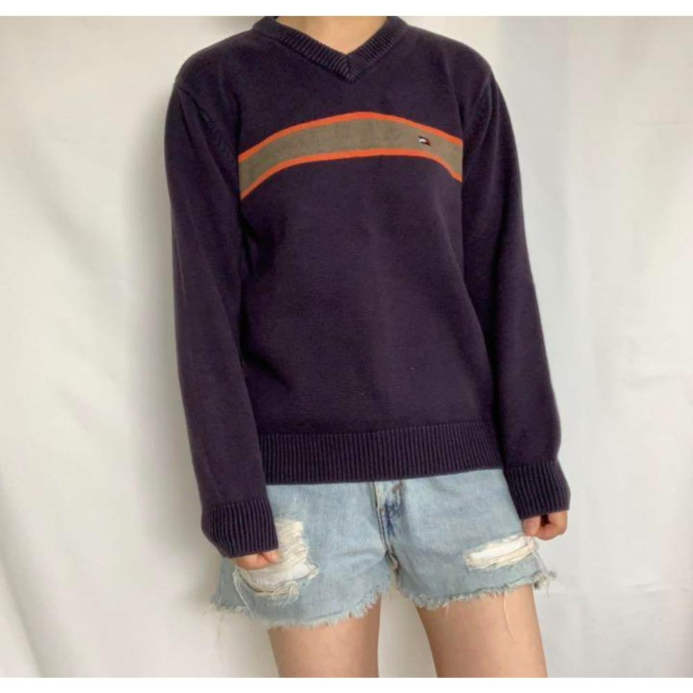 TOMMY JEANS トミー ジーンズ ロゴ刺繍ニット 1