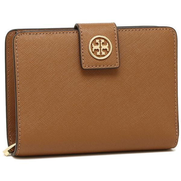 トリーバーチ TORY BURCH ROBINSON FRENCH FOLD WALLET 二つ折りTIGERS EYE 茶色  1