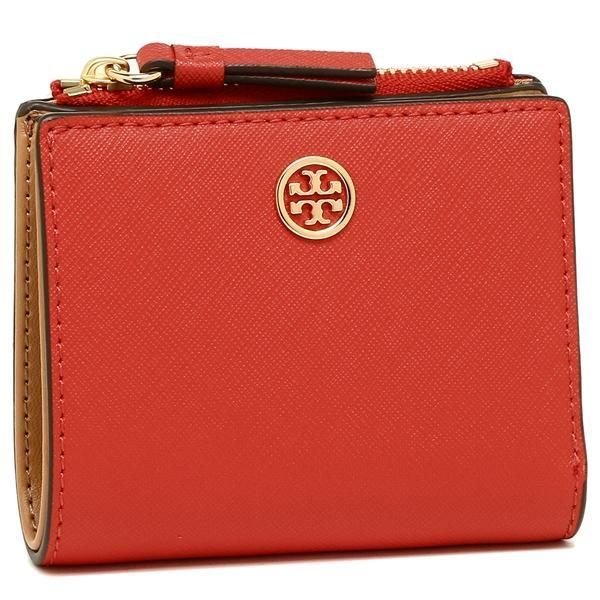 トリーバーチ TORY BURCH ROBINSON MINI WALLET 二つ折りPOPPY ORANGE/CARDAMOM  1