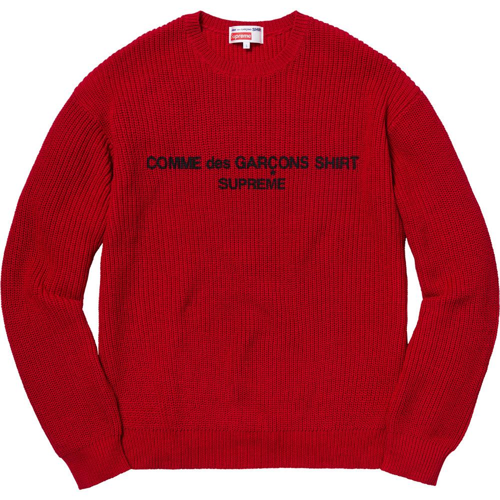 Supreme シュプリーム コムデギャルソン セーター レッド Comme des Garcons Shirt Sweater Red 1