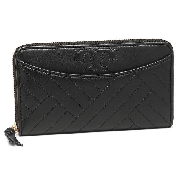 トリーバーチ TORY BURCH ALEXA ZIP CONTINENTAL WALLET 長財布 BLACK  1
