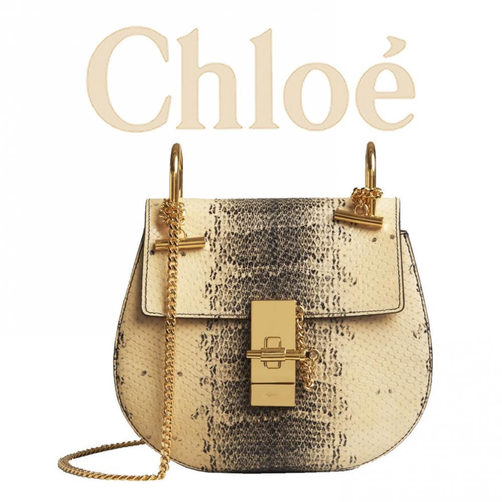 lowest price ba78d 60c79 【高級感 上品パイソン】Chloe クロエ Drewチェーンショルダーバッグ