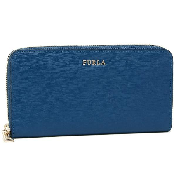 フルラ FURLA バビロン BABYLON XL ZIP AROUND 長財布 BLU PAVONE 青  1