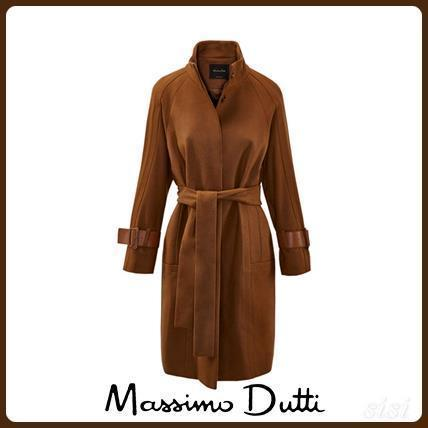 MassimoDutti♪WOOL COAT WITH BUCKLE DETAIL 1