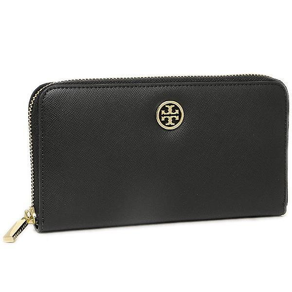 トリーバーチ TORY BURCH ROBINSON ZIP CONTINENTAL WALLET 長財布 BLACK  1