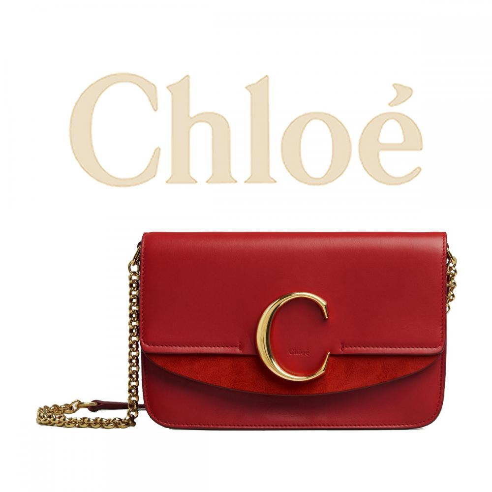 new arrival aff4e 45b74 【人気ミニショルダー】Chloe クロエ チェーン付きショルダー Cロゴ