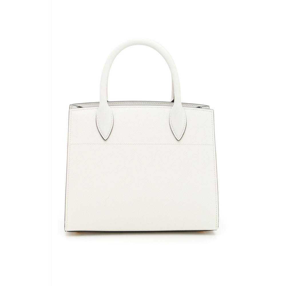 cc5385a64383 ... プラダ ビブリオテーク バッグ ハンド ショルダーバッグ ホワイト PRADA Bibliothèque Bag Saffiano  leather 3 ...