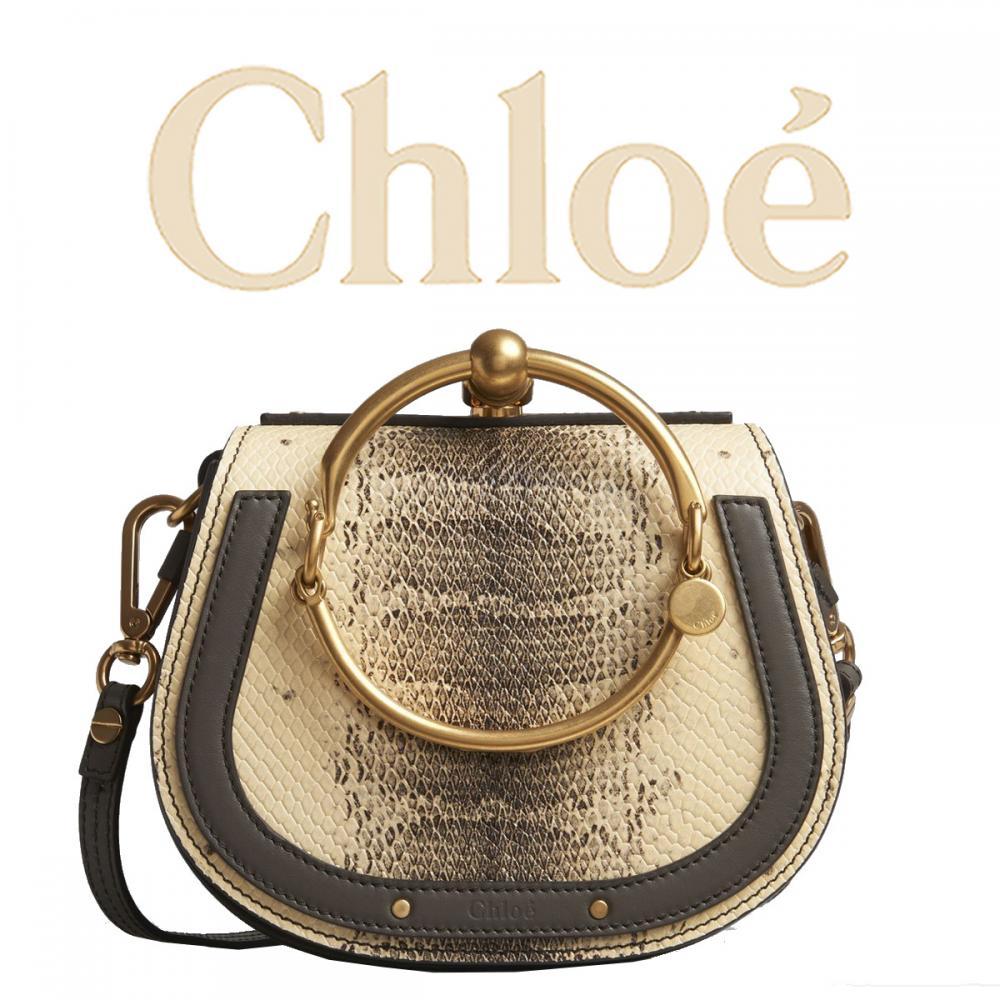 brand new c06c8 eb3ee 【希少!限定】Chloe クロエ Nile パイソンスモールブレスレットバッグ