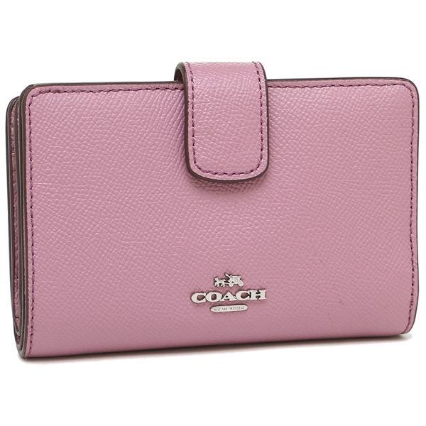 premium selection 2cc90 8eff8 COACH F54010 クロスグレインレザー二つ折り財布 ピンク