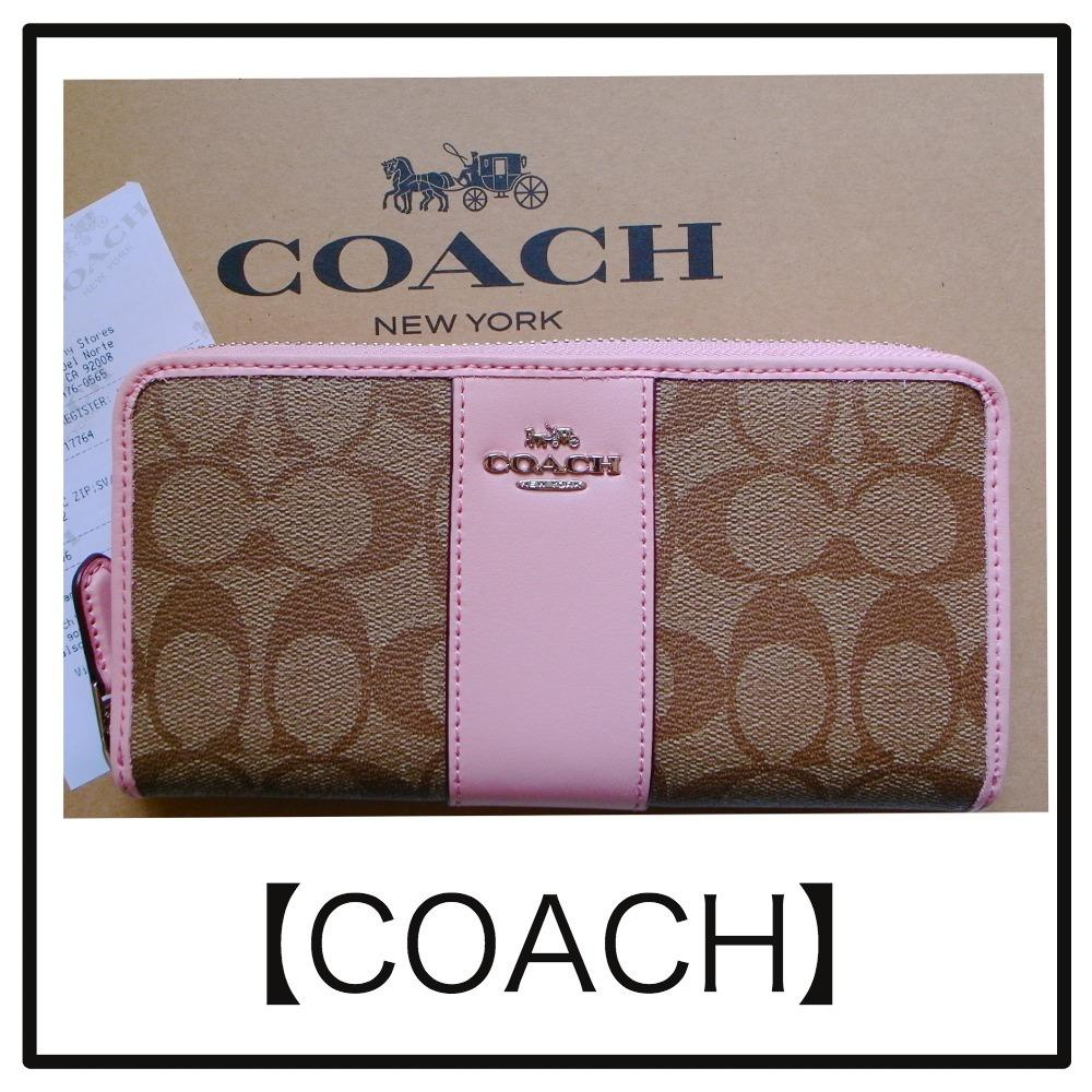 NWT Coach Accordion Zip Wallet in Signature Canvas F54630 1