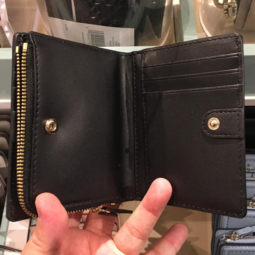 475ec00073c7 ... ケイトスペード レザー 折畳み 財布 kate spade patterson drive small shawn WLRU5294 4 ...