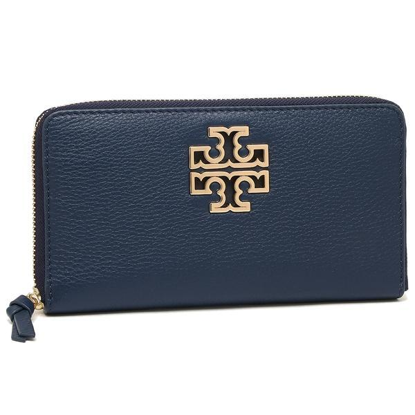 トリーバーチ TORY BURCH BRITTEN ZIP CONTINENTAL 長財布 HUDSON BAY 紺 1