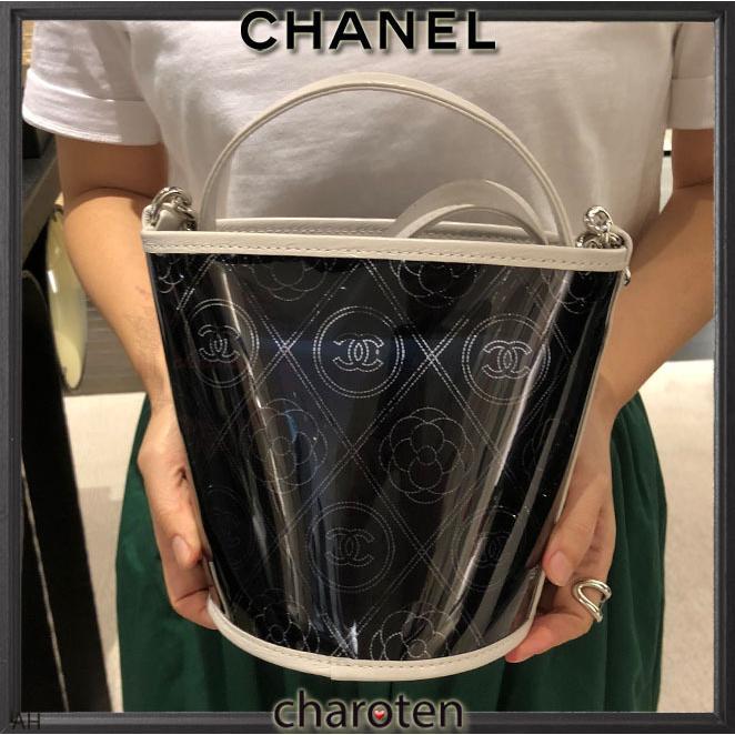 e564485645be ... シャネル CHANEL 超可愛クリア素材 最新 限定バスケットバッグ ショルダーバッグ ポシェット 5 ...