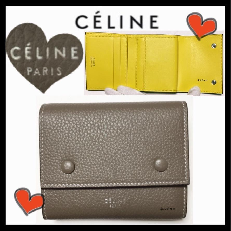 innovative design bb42b 5a34e セリーヌ CELINE 折りたたみ財布 希少 ミニバッグに Compact Wallet スリ