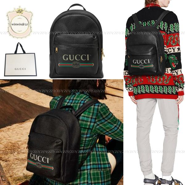 GUCCI グッチ【国内発送】プリント レザー バックパック 1