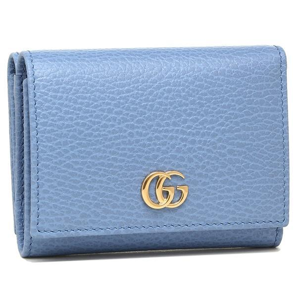 b4ffecd6d934 グッチ GUCCI プチ マーモント PETITE MARMONT 二つ折り財布 CLEAR SKY BLUE 青 1