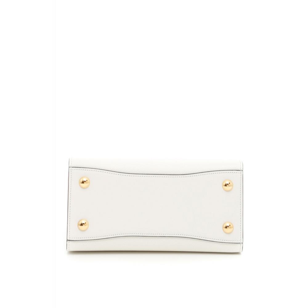 fcc844276153 ... プラダ ビブリオテーク バッグ ハンド ショルダーバッグ ホワイト PRADA Bibliothèque Bag Saffiano  leather 5 ...