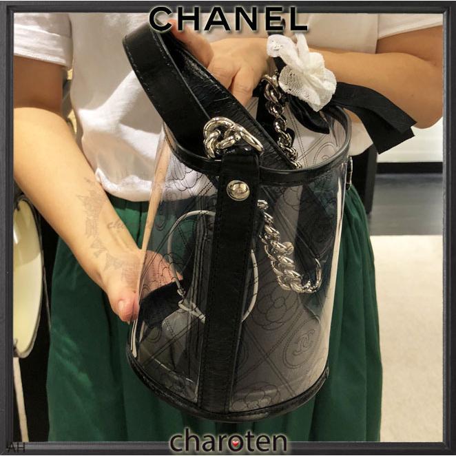 ab8b91d41991 ... シャネル CHANEL 超可愛クリア素材 最新 限定バスケットバッグ ショルダーバッグ ポシェット 4 ...