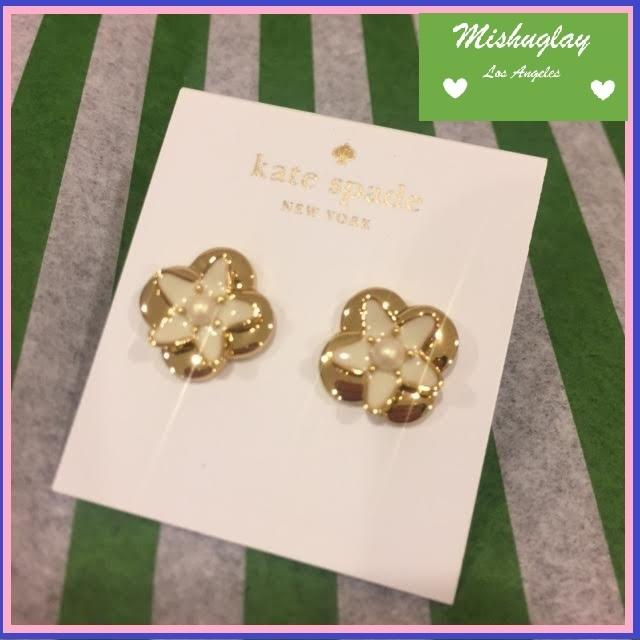 【kate spade】上品&華やか★window seat bouquet ピアス★ 1
