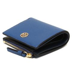 トリーバーチ TORY BURCH ROBINSON MINI WALLET 二つ折りREGAL BLUE/ROYAL NAVY 青  7