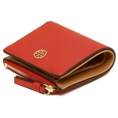 トリーバーチ TORY BURCH ROBINSON MINI WALLET 二つ折りPOPPY ORANGE/CARDAMOM  7