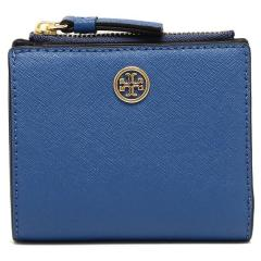 トリーバーチ TORY BURCH ROBINSON MINI WALLET 二つ折りREGAL BLUE/ROYAL NAVY 青  5