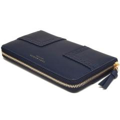 トリーバーチ TORY BURCH BLOCK-T BROGUE ZIP CONTINENTAL WALLET 長財布 ROYAL NAVY  7