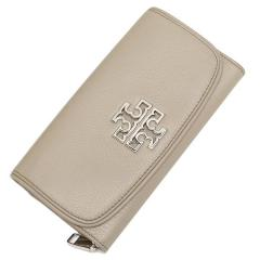 トリーバーチ TORY BURCH BRITTEN DUO ENVELOPE CONTINENTAL WALLET 長財布 グレー 4