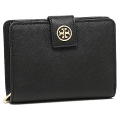 トリーバーチ TORY BURCH ROBINSON FRENCH FOLD WALLET 二つ折りBLACK  1
