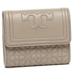 トリーバーチ TORY BURCH BRYANT FOLDABLE MINI WALLET 三つ折りグレー  1