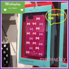【kate spade】1月新作★ミニリボン柄♪ iPhone6/6s case★ 1