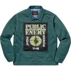 新作☆ Supreme SS18 Supreme x Undercover/Public Enemy Puffy Jacket Teal ワークジャケット