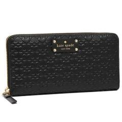 ケイトスペード KATE SPADE 長財布 PENN PLACE EMBOSSED NEDA BLACK