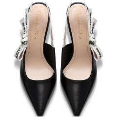 Christian Dior クリスチャンディオール 17AW J'ADIOR Slingback Black Leather 6.5cm 5
