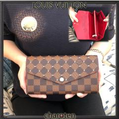 Louis Vuitton ルイヴィトン PORTEFEUILLE SARAH ポルトフォイユ サラ スタッズがゴージャス 最新限定フラップW