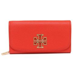 トリーバーチ TORY BURCH BRITTEN DUO ENVELOPE CONTINENTAL WALLET 長財布 オレンジ 5