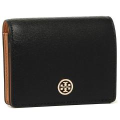 トリーバーチ TORY BURCH PARKER パーカー FOLDABLE MINI WALLET 二つ折りBLACK 黒  1