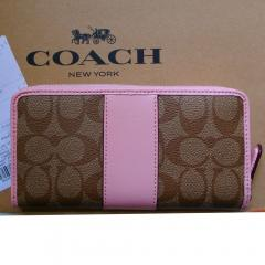 NWT Coach Accordion Zip Wallet in Signature Canvas F54630 3