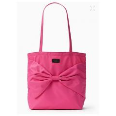 【kate spade】6月発表★on purpose♪リボン nylon tote★ピンク 5