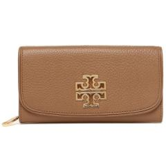 トリーバーチ TORY BURCH BRITTEN DUO ENVELOPE CONTINENTAL 長財布 BARK 茶色 5