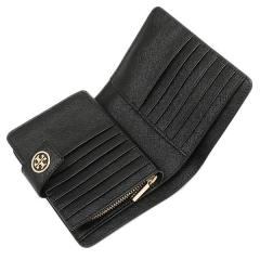トリーバーチ TORY BURCH ROBINSON FRENCH FOLD WALLET 二つ折りBLACK  4
