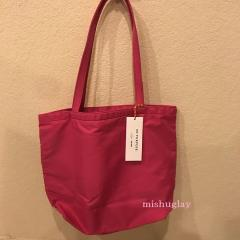 【kate spade】6月発表★on purpose♪リボン nylon tote★ピンク 3