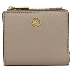 トリーバーチ TORY BURCH MINI WALLET ROBINSON 二つ折りFRENCH GRAY  5