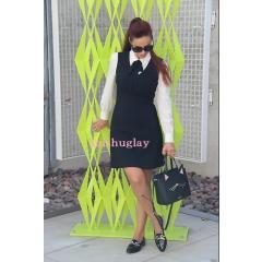 【kate spade】復刻★清楚な可愛さ♪bow tie crepe a-line dress