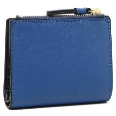 トリーバーチ TORY BURCH ROBINSON MINI WALLET 二つ折りREGAL BLUE/ROYAL NAVY 青  3