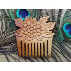 木製 櫛 くし 彫刻 クランベリー wooden comb hair comb engraved cranberries 2