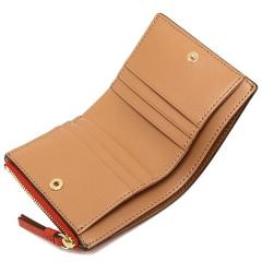トリーバーチ TORY BURCH ROBINSON MINI WALLET 二つ折りPOPPY ORANGE/CARDAMOM  4